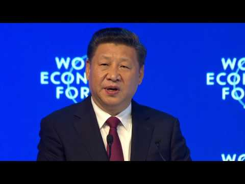 Davos 2017 - Opening Plenary with Xi Jinping, President of the Peoples Republic of China