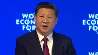 davos 2017 opening plenary with xi jinping president of the peoples republic of china