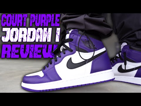 2020 JORDAN 1 COURT PURPLE REVIEW AND ON FOOT IN 4K !!!