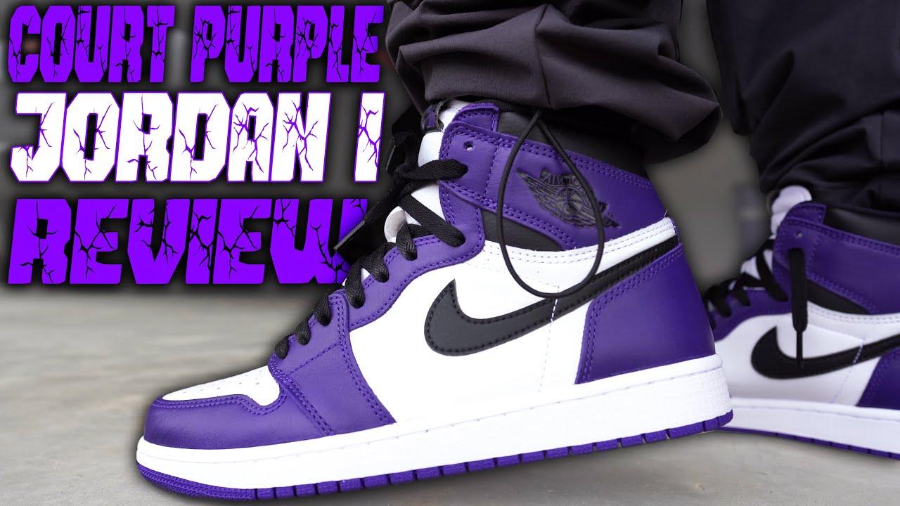 air jordan 1 court purple 2020 on feet