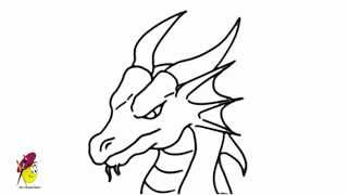 dragon easy drawing coloring draw dragons face head faces pages oil pastel getdrawings pastels earth wolf