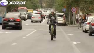 Bakının mərkəzi küçələrində velosiped yolları salınır
