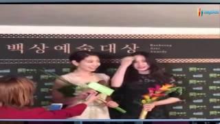 150526 Krystal & Park Shinhye - Baeksang Arts Awards 2015