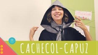 Aprenda a costurar um cachecol-capuz dupla face