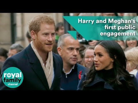 Prince Harry and Meghan Markle's first public engagement