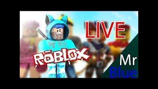 Random Roblox Games With Mr Blue live stream road to 1500 subs Magnet Simulator pet giveaway