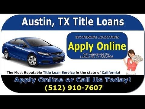 Austin Title Loans - Get An Austin Car Title Loan Online