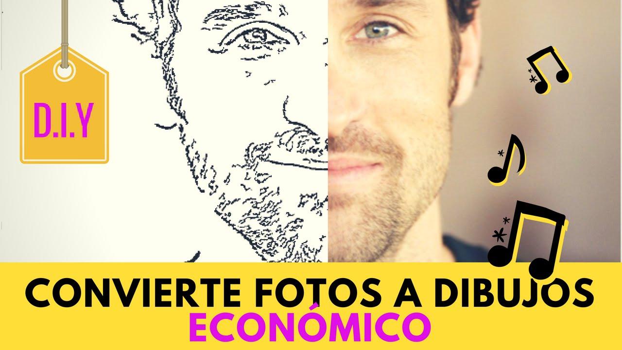 CONVIERTE TUS FOTOS A DIBUJOS PARA COLOREAR - DIY ECONÓMICO - YouTube