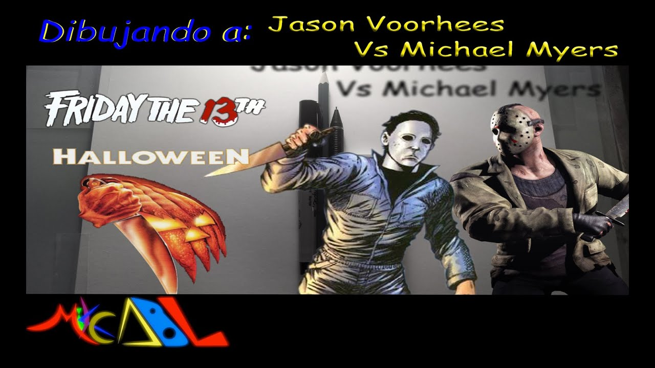 Dibujando A Jason Voorhees Vs Michael Myers