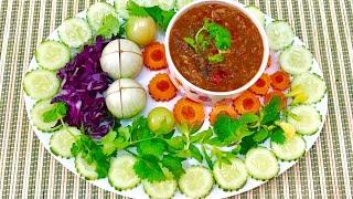 Thai Spicy Tomato Chili Paste น้ำพริกหรือแจ๋วมะเขือเทศรสแซ่บ