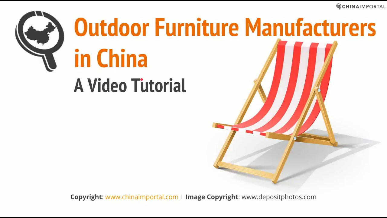 Outdoor Garden Furniture Manufacturers In China Video Tutorial