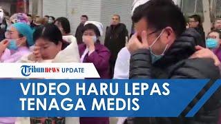 Beredar Video Petugas Medis Menangis saat Lepas Teman-temannya yang Ditugaskan ke Wuhan