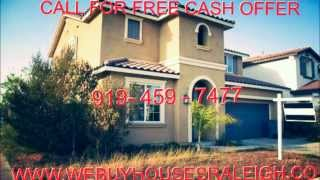 We Buy Houses Raleigh, NC - Sell Your House Fast Raleigh