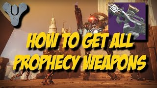 Destiny 2 - Curse of Osiris - HOW TO GET ALL LOST PROPHECY VERSE WEAPONS!!!