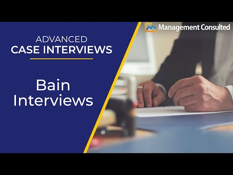Advanced Case Interviews BCG Interview (Video 4 of 7) - YouTube