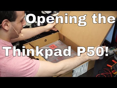Lenovo Thinkpad P50 brief unboxing. What a terrible battery!