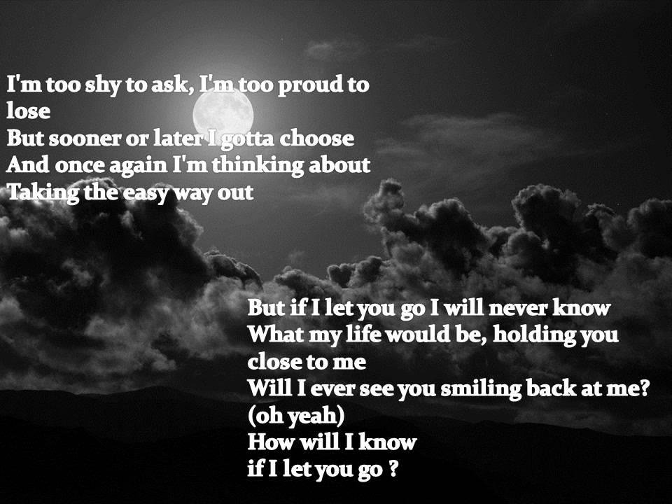 If I Let You Go Lyrics Westlife Song In Images - Imagez co
