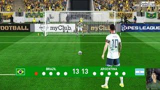 PES 2019   Penalty Shootout   Brazil vs Argentina