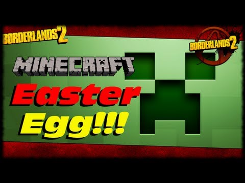 Borderlands 2 Minecraft Easter Egg In Caustic Caverns And  Welcome New Subscribers!!!  (1080p)