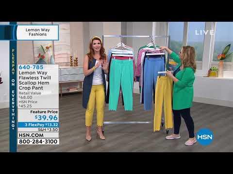 Lemon Way Flawless Twill Scallop Hem Crop Pant. http://bit.ly/31OCfjJ