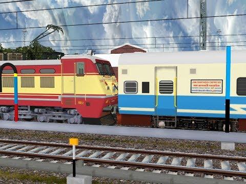 12058/Una - New Delhi Janshatabdi Express From Chandigarh || IR In MSTS In Open Rail