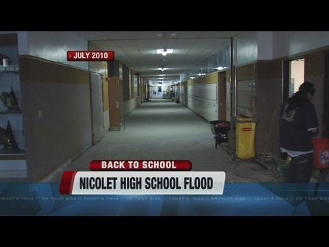 Nicolet High School rolls out the red carpet after flood