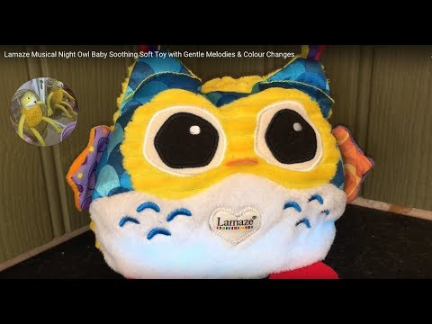 Lamaze Musical Night Owl Baby Soothing Soft Toy with Gentle Melodies & Colour Changes
