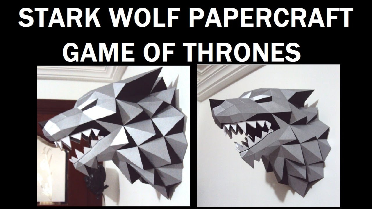 Stark Wolf Papercraft(TUTORIAL)-Game of Thrones