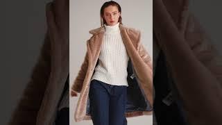 Модная Женская шуба бежевого цвета S M L