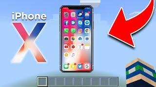 WORKING iPHONE X in Minecraft! NO MODS! (Pocket Editon, Xbox, PC)