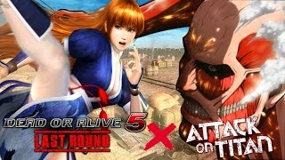 Dead Or Alive 5: Last Round - Attack ON Titan Stage & Costumes DLC Showcase (60fps 1080p)