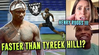 New Raiders WR Henry Ruggs Says He's FASTER Than TYREEK HILL? Las Vegas' Next Star OPENS UP 😱