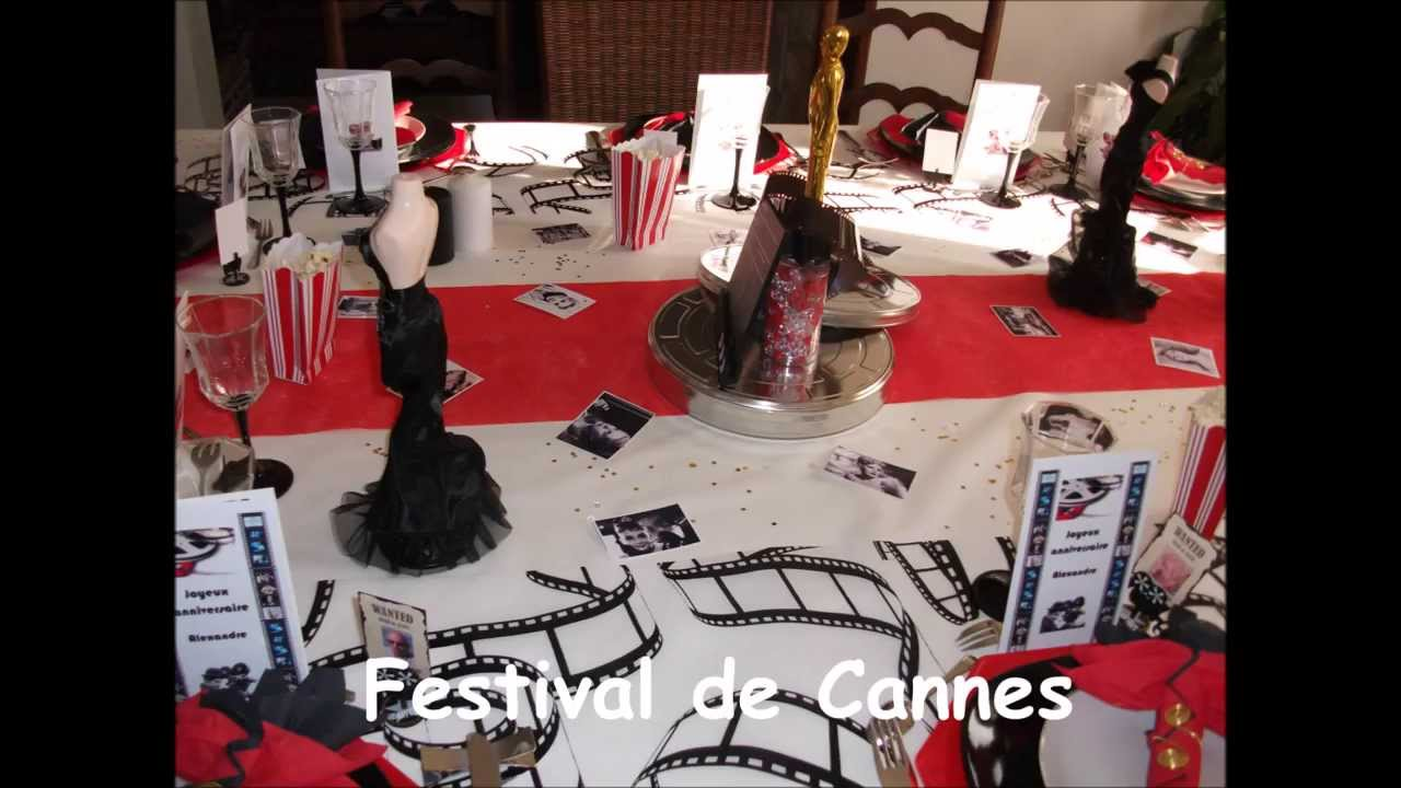 d co de table sur diff rents th mes festival de cannes 14 juillet etc youtube. Black Bedroom Furniture Sets. Home Design Ideas