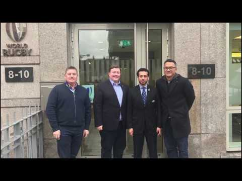 Asia Rugby President Mr Qais Al-Dhalai Visit to World Rugby HQ in Dublin
