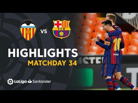 Highlights Valencia CF vs FC Barcelona (2-3)