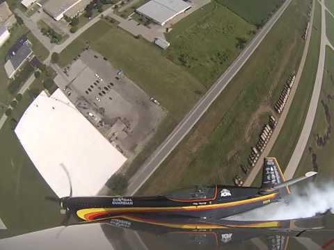 Patty Wagstaff flying her routine at Oshkosh 2014