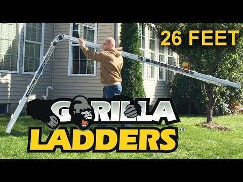 How to use Gorilla Ladders MPX 26' Aluminum Multi-Position Ladder with 375  lb