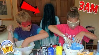 One of DomVlogs's most viewed videos: NEVER MAKE SLIME *BLINDFOLDED* AT 3AM!! OMG SO SCARY!!! *Blindfolded Slime Challenge*