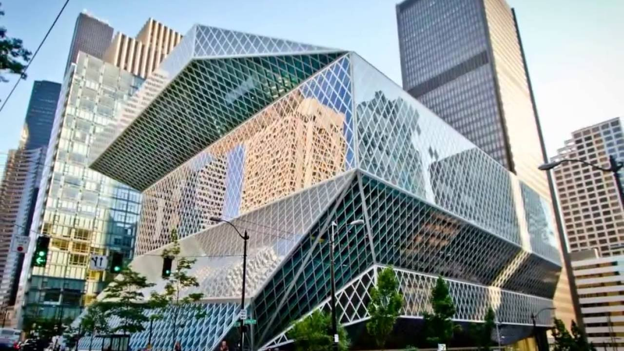 Seattle Public Library Seattle Central Library in 4 Minutes HD ...