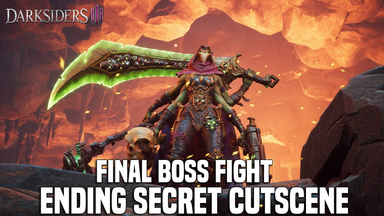 DARKSIDERS 3 Envy Final Boss Fight + Secret Cutscene + Post Credits Cutscene