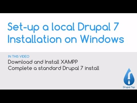 Set-up a local Drupal 7 installation on Windows