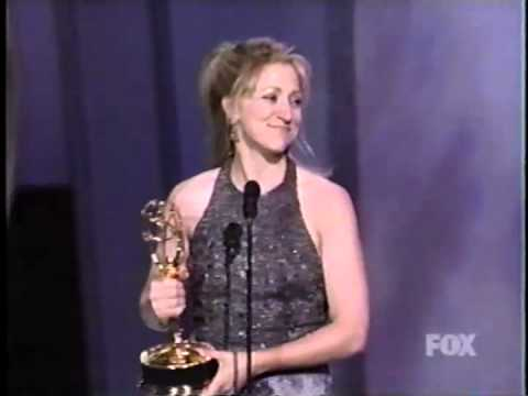 Edie Falco wins 1999 Emmy Award for Lead Actress in a Drama Series