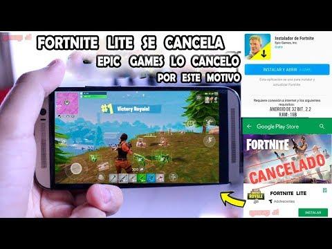 FORTNITE LITE SE CANCELA EPIC GAMES LO DIJO - ADIOS FORTNITE LITE
