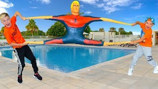 ОБИДЕЛ Тишу...отпустил ТРАМПА. Антистресс ГИГАНТ Stretch Armstrong!