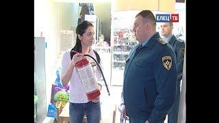 По результатам проверки пожарной безопасности торговых объектов