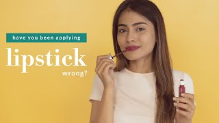 How To Apply Lipṡtick Perfectly | Tips For Soft, Pink and Plump Lips