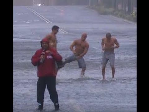 CNN Hurricane Sandy Gangnam Style