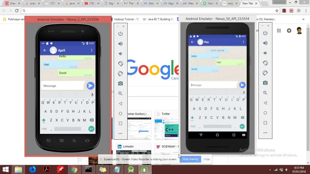 WhatsApp like chat App for Android Java