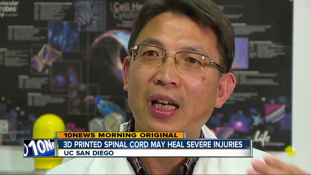 UC San Diego researchers use 3D Printing to heal spinal cord injuries