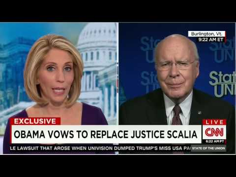 Sen. Patrick Leahy Asked About Hypocrisy With Replacing Justice Scalia
